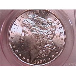 1890-S Morgan Dollar MS63 PCGS
