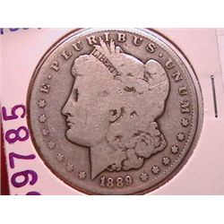 1889-S SILVER MORGAN DOLLAR