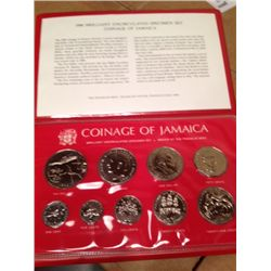 JAMAICA 1974 8 COIN SPECIMEN SET IN ORIGINAL CASE