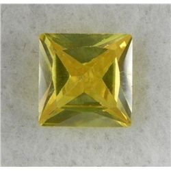 4.62ct Natural Gemstone Yellow Color Square Shaped