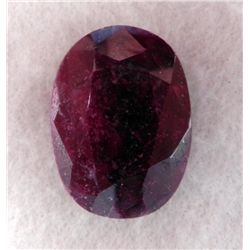 290ct Natural Ruby Gemstone Oval Faceted w/ KGCL Cert