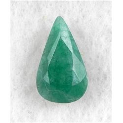 7ct Natural Emerald Gemstone Pear Faceted