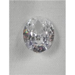 3.85 Ct. Natural White/Clear Oval Gemstone