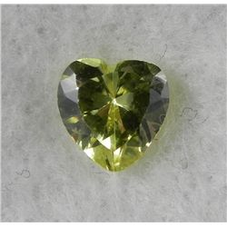 3.25ct Natural Gemstone Yellow Color Heart Shaped