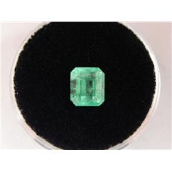1.39 Bright Glowing Green Emerald Gemstone