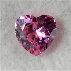 5.69ct Natural Gemstone Pink Color Heart Shaped