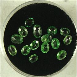 15 2.24 CT TSAVORITE GREEN OVAL GEMSTONES