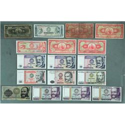 1 Lot Peru Bills Many Crisp Unc 1960-88 5-5000 Soles