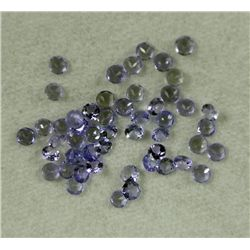 Lot 50 3.05ctw Natural Tanzanite Gemstones Round Shaped