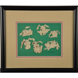 Rabbit Original Model Cel Animation Art Framed