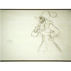 Disney Orig Animation Drawing Hook Return to Never Land