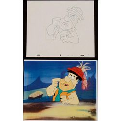 Flintstones Animation Cel Original Drawing Fred Art