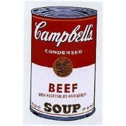 Warhol Print Sunday B Morning Campbell's Soup Can Beef