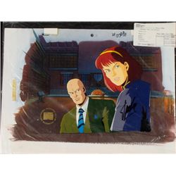 X-MEN Signed Cel Background Original Stan Lee Animation