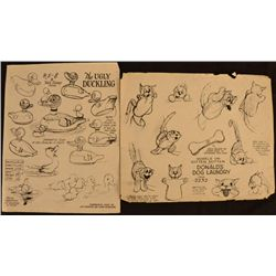 Dog Laundry Ugly Duckling Disney Animation Model Sheets
