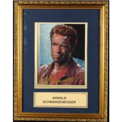 Arnold Schwarzenegger Signed Photo Framed