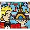 Jozza Original Pop Art Painting Canvas Toast in Paris