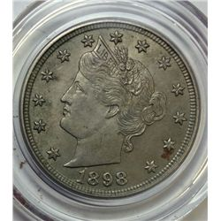 1898 LIBERTY NICKEL ORIGINAL CH BU+