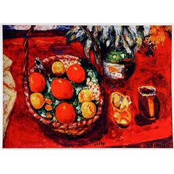 Pierre Bonnard BASKET of FRUIT: ORANGES & PERSIMMONDS  Signed Limited Ed. Lithograph