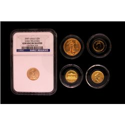 COIN: (5) Misc Gold Coins