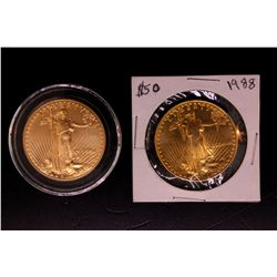 COIN: (2) 1 oz.  Gold Eagle Coins