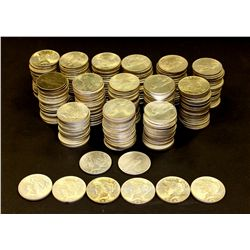 COINS: (278)1922-1935 Peace silver dollars