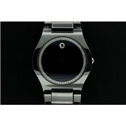 WATCH:Gent's tungsten Movado Fiero diamond watch