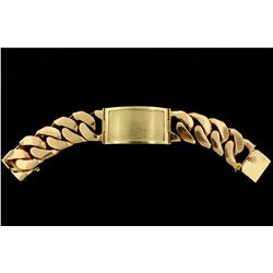JEWELRY: 14k yellow gold I.D. style bracelet