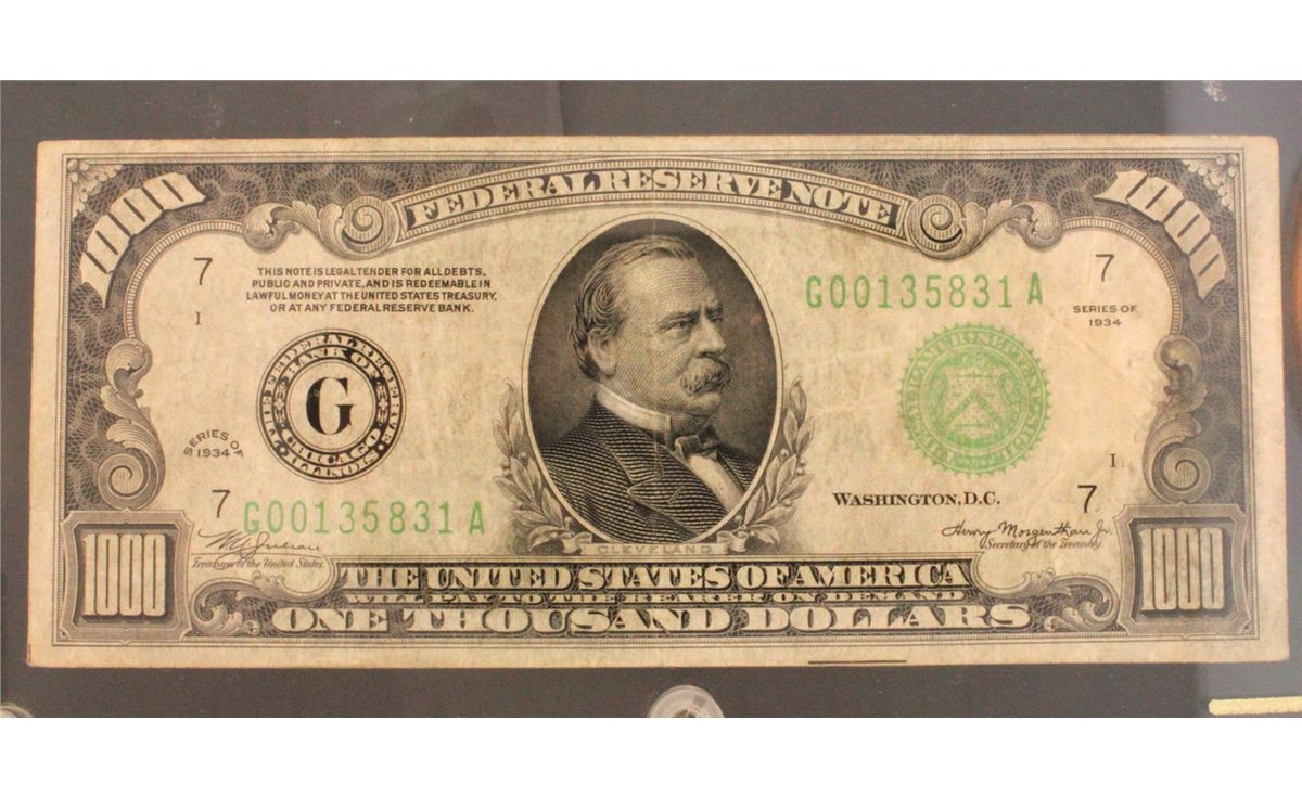Image 1 Currency 1934 U S 1000 Dollar Federal Reserve Note