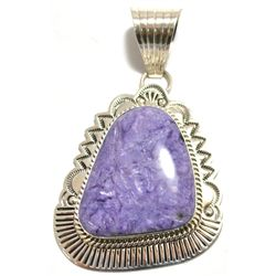 Navajo Charoite Sterling Silver Pendant - Mary Ann Spencer