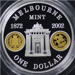 2002 Melbourne Mint Proof Dollar