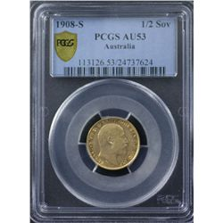 1908 S Half Sovereign