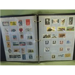 Binder w/11 Pages Vintage US Stamps