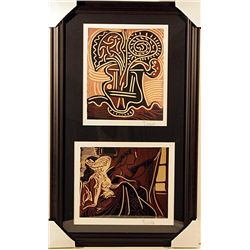 RARE ORIGINAL SIGNED LINOCUTS BY PICASSO.