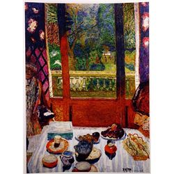 Pierre Bonnard DINING ROOM OVERLOOKING the GARDEN  Signed Limited Ed. Lithograph