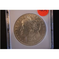 1882-O Silver Morgan $1; MCPCG Graded AU58; EST. $60-80
