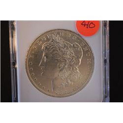 1883-O Silver Morgan $1; MCPCG Graded MS60; EST. $60-80