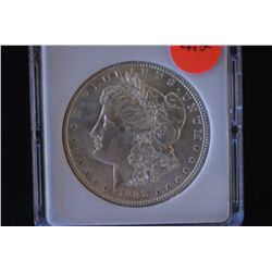 1888 Silver Morgan $1; MCPCG Graded MS60; EST. $60-80