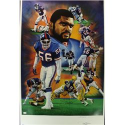 Lawrence Taylor Signed Giants 25x38 Lithograph (JSA COA)