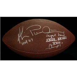 Michael Irvin Signed Football: Multiple Inscriptions (GA COA)