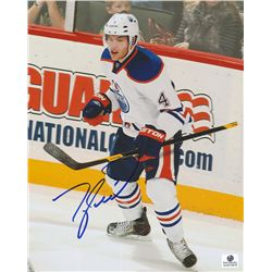 Taylor Hall Signed Oilers 8x10 Photo (GA COA)