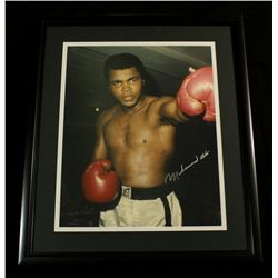 Muhammad Ali Signed 23x27 Custom Framed Photo (JSA LOA)
