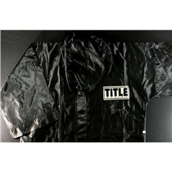 Mike Tyson Signed Title Boxing Robe (GA COA)