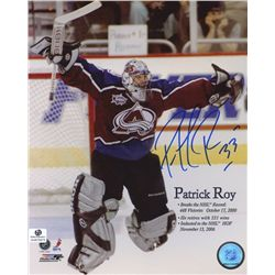 Patrick Roy Signed Avalanche 8x10 Photo (GA COA)