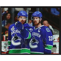 Daniel Sedin & Henrik Sedin Signed Canucks 11x14 Photo (GA COA)