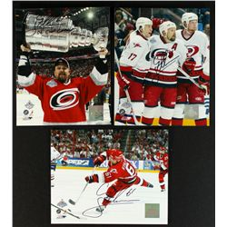 "Lot of 3 Cory Stillman Signed Hurricanes 8x10 Photos: Inscribed ""06 Cup Champs"" (Fameabilia)"
