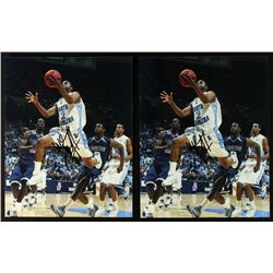 Lot of 2 Signed Wayne Ellington UNC 8x10 Photos (GA COA)