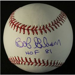 "Bob Gibson Signed OML Baseball: Inscribed ""HOF 81"" (AAA COA)"