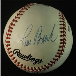 Lou Brock Signed 3,000th Hit Baseball (AR)
