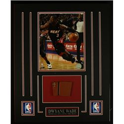 Dwyane Wade Heat 16x20 Custom Display with Piece of Basketball